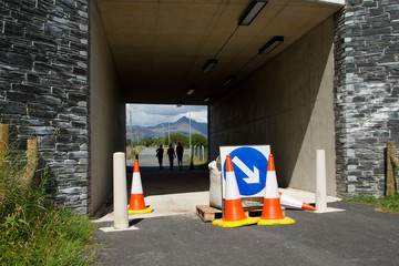 Closed underpass.