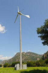 Aerogeneratore in Valle d'Aosta