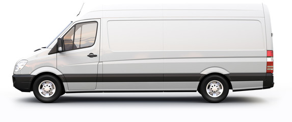 Cargo van side view