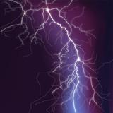 Fototapety Blitze mit rotem Schein
