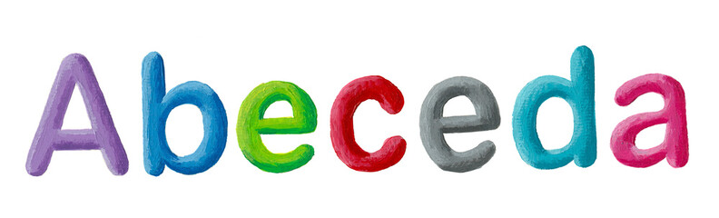Colorful letters ABCDE