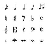 Musik Noten Zeichen