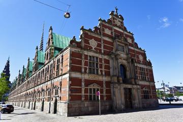 Facade of the Borsen - Stock exchange in Slotsholmen, Copenhagen