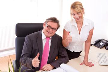 Erfolgreiches Unternehmer Ehepaar