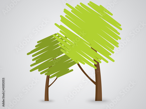 Abstract green Tree icon