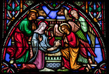 Nativity Scene - Stained glass window