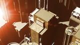 Metropolis - aerial 3D render poster