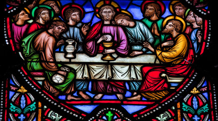 Last Supper - Stained glass window