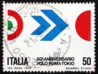 Postage stamp Italy 1970 Colors of Italy and Japan