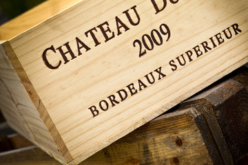 Caisse, vin, Bordeaux, cave, œnologie, bois, emballage