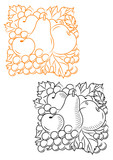 Fruits embellishment poster