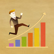 Conceptual image - Business man run on graph