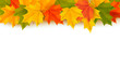 Autumn background with leaves  Back to school  illustration