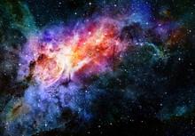 Gwiaździsta Mgławica głębokiej przestrzeni kosmicznej i galaxy