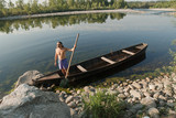 oarsman on river Ticino