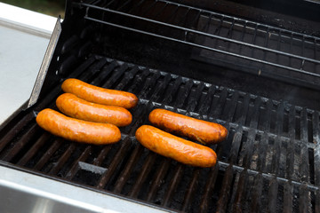 Brats on the grill