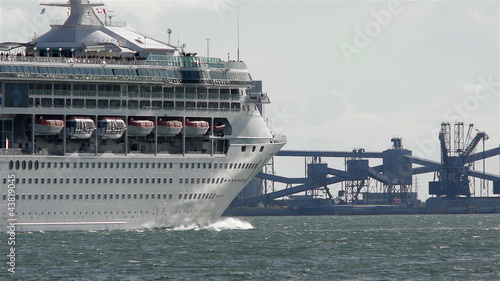 Cruise Ship Leaving