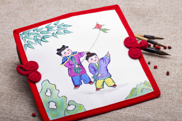 Traditional Chinese painting on canvas
