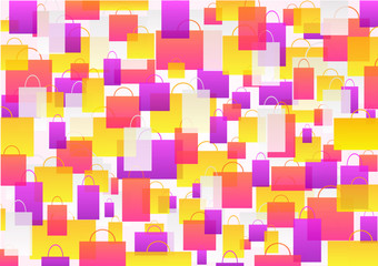 Color background – shopping. Vector.