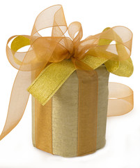 gift with yellow bows