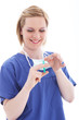 Nurse preparing injection