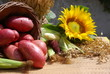 red organic potatoes