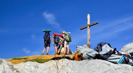 randonnée en famille dans les alpes