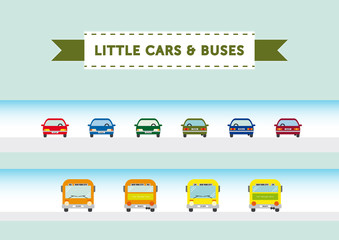 Little cars & buses
