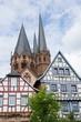 Fachwerkhäuser und Marienkirche Gelnhausen