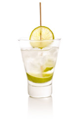 Vodka with lime