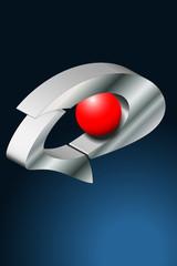 logo Auge rot