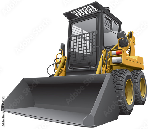 light-brown skid steer loader.cdr