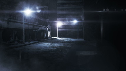 Scary Alley realistic 3D animation
