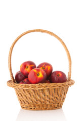Basket fresh nectarines