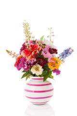 Vase garden flowers