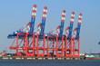 canvas print picture - Hafenanlagen Bremerhaven