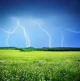 Lightning in meadow