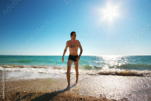 Man and sea