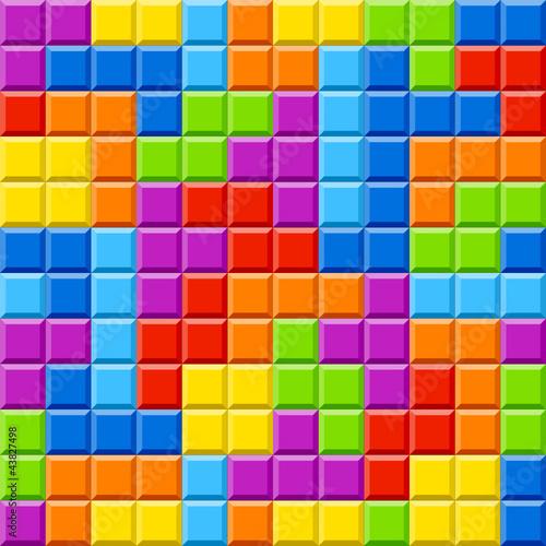 Color blocks background. Seamless illustration.