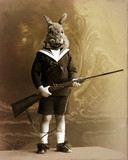 Fototapety lapin chasseur