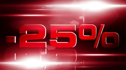 25 percent OFF discount animation