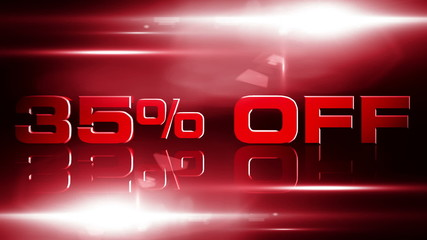 35 percent off discount animation