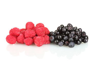 Fresh berries isolated on white