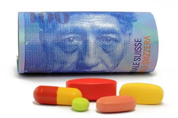 schweizerfranken mit tabletten