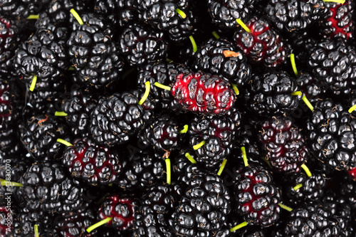 Heap of ripe mulberries