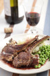 Lamb cutlets with red wine sauce