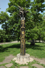 Perun - slavic pagan's idol, god of Thunder
