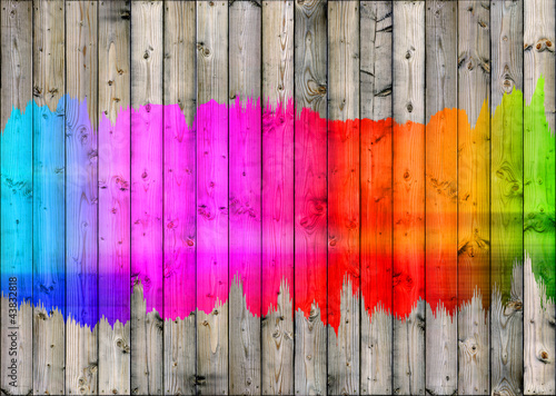 Papier peint colour fence bright palette mur for Effet miroir psychologie