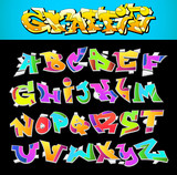 Graffiti Font Urban Art Alphabet - 43833079