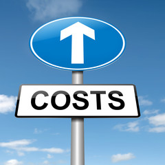 Cost increase concept.